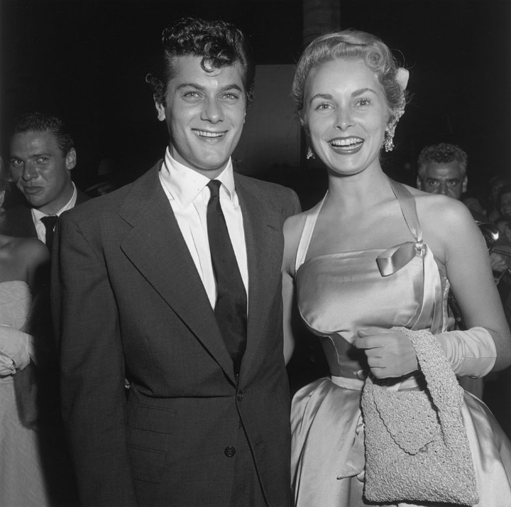 tony curtis janet leigh hollywood pompadour 1950 hair trend hairstyle