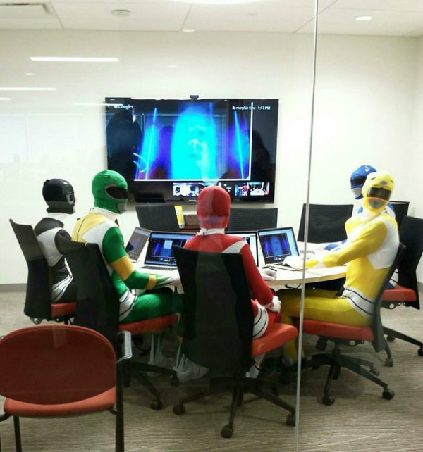 Power Rangers in the office