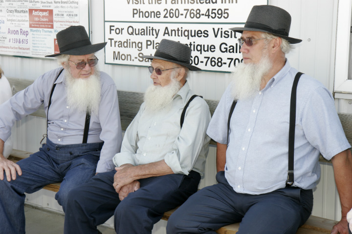 Senior Amish men