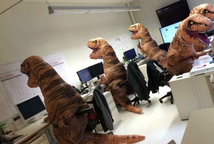Trex at the office