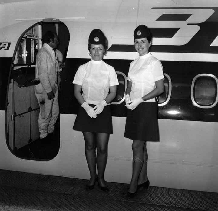 Airline Flight Attendants vintage
