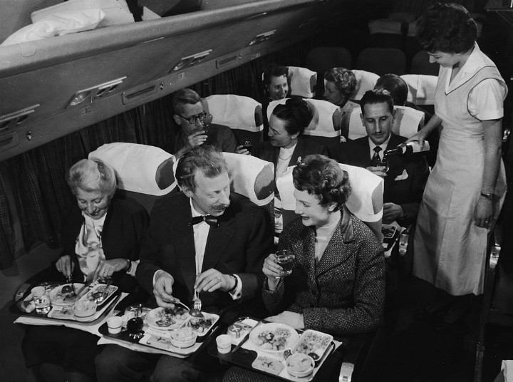 Vintage In Flight Dining