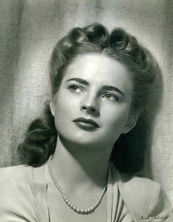 victory roll coleen gray actress hair trend hairstyles
