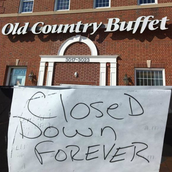 Old Country Buffet products brands discontinued