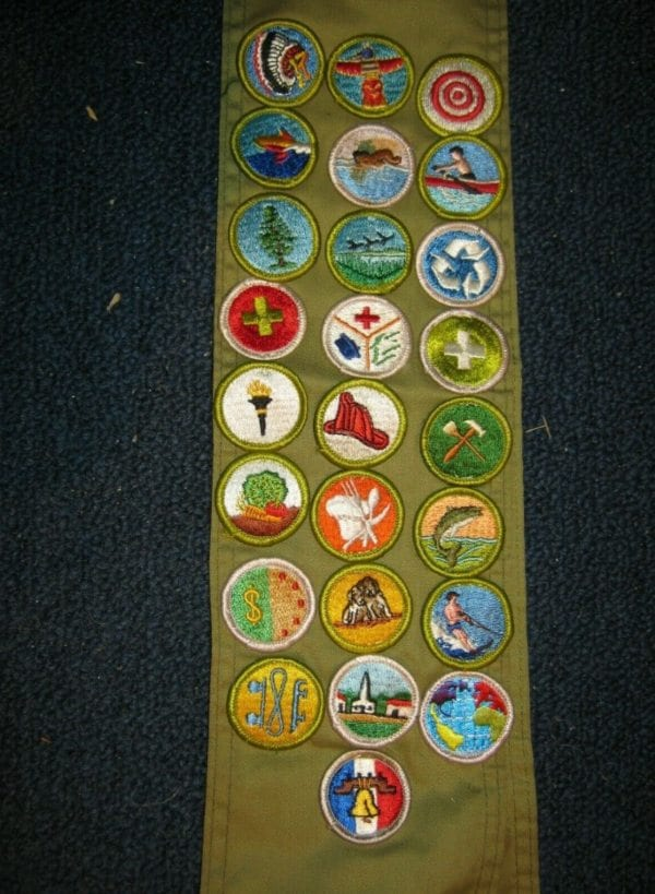 Boy Scout badges,