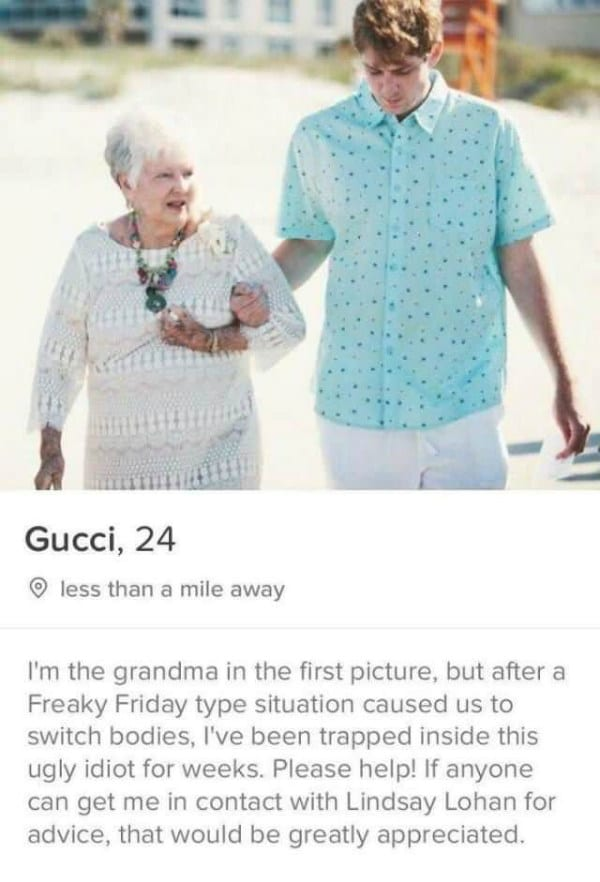 hysterical tinder bios