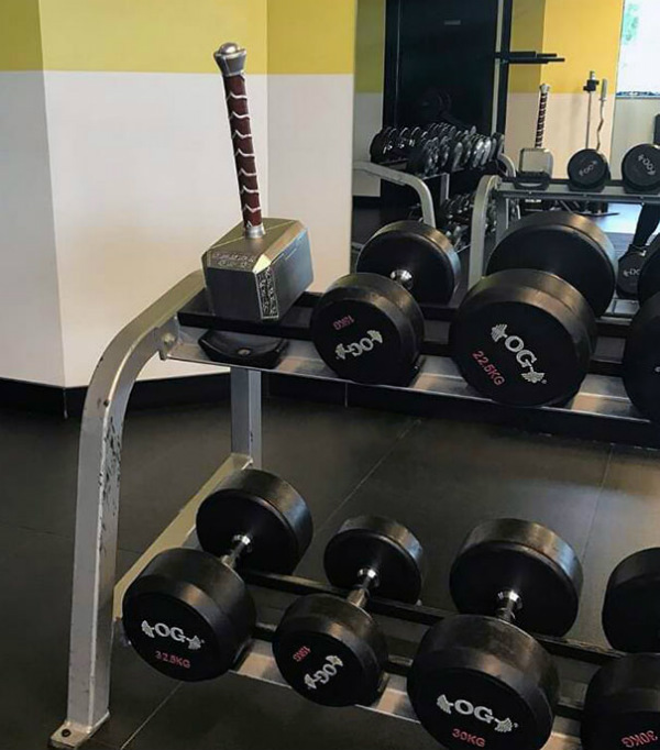 hammer weight gym moments