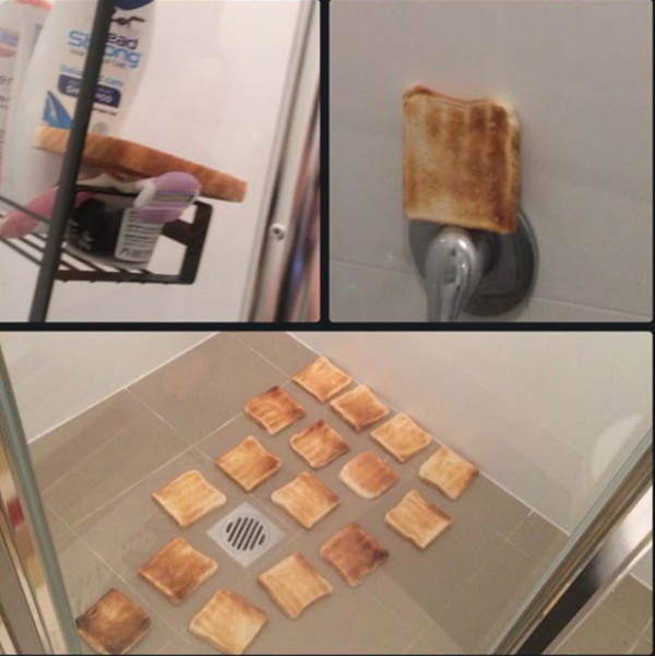 toast bread pranks