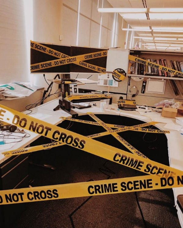 crime scene pranks