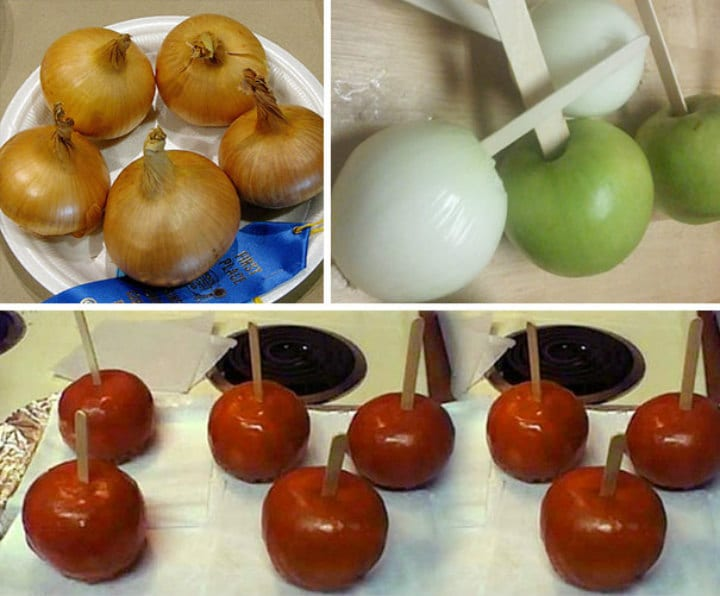 caramel onions apples gross dessert vegetables food pranks