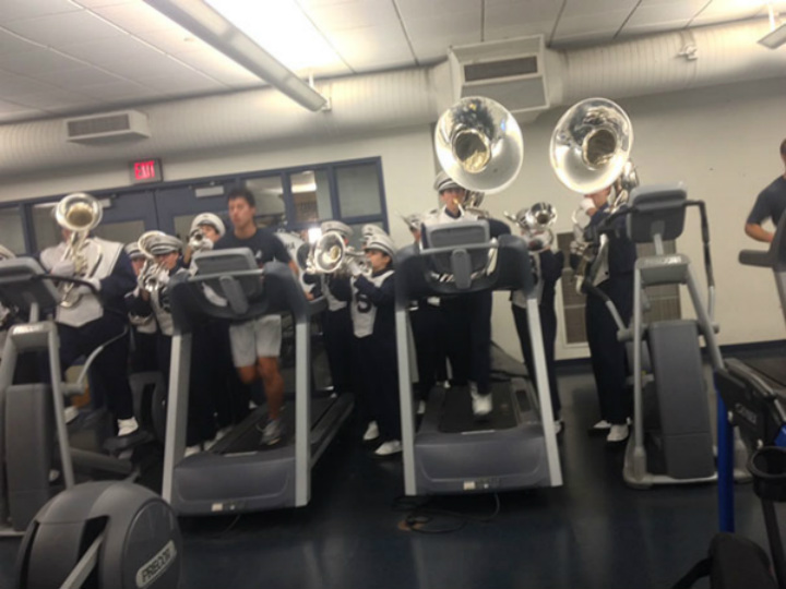 marching band gym moments