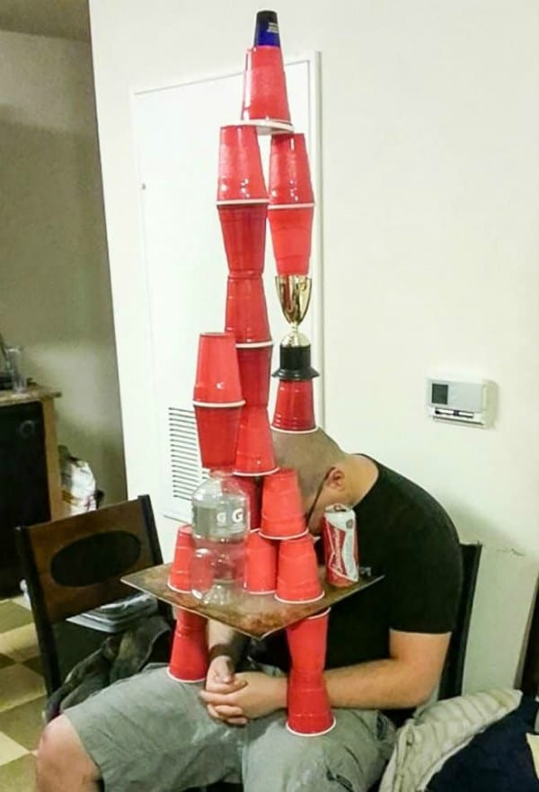 stacking cups pranks