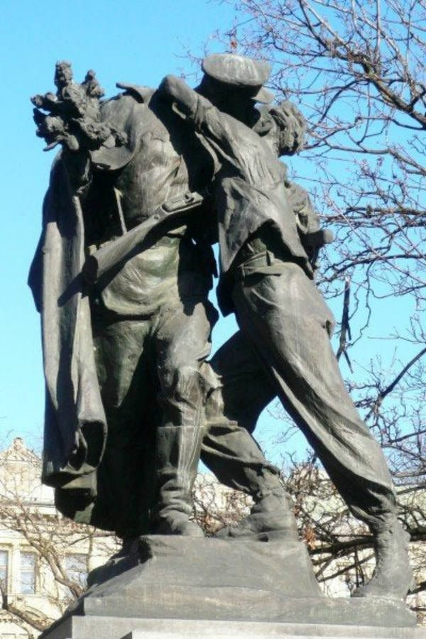 prague czechia czech republic statue monument communist relics