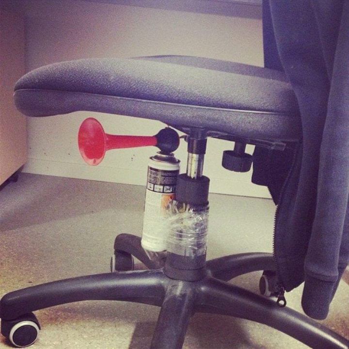 chair airhorn pranks