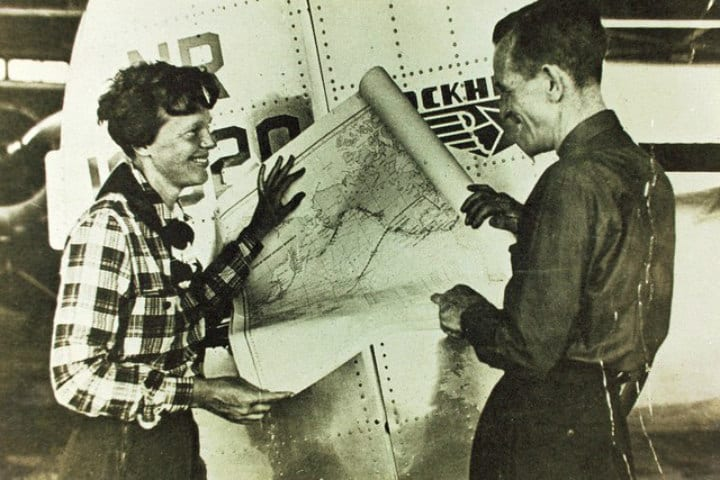 map amelia earhart