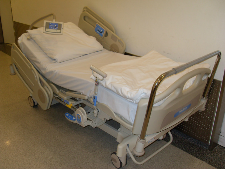 hospital bed mysterious illness