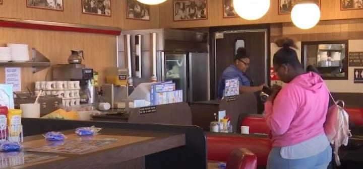 waitress hidden camera secretly recorded