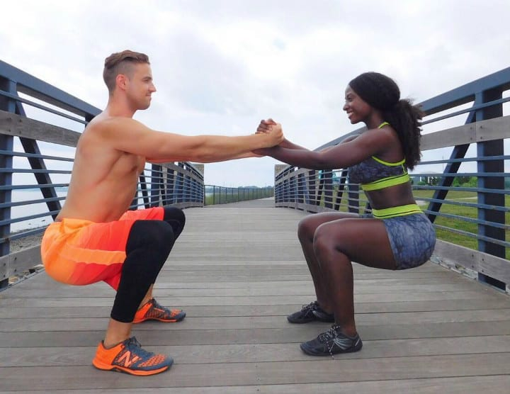 viral post fitness couple