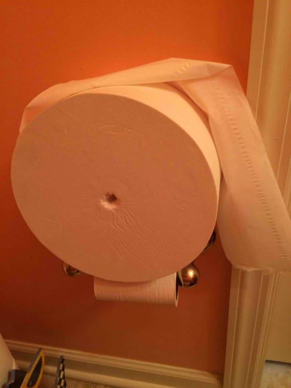 giant toilet paper roll