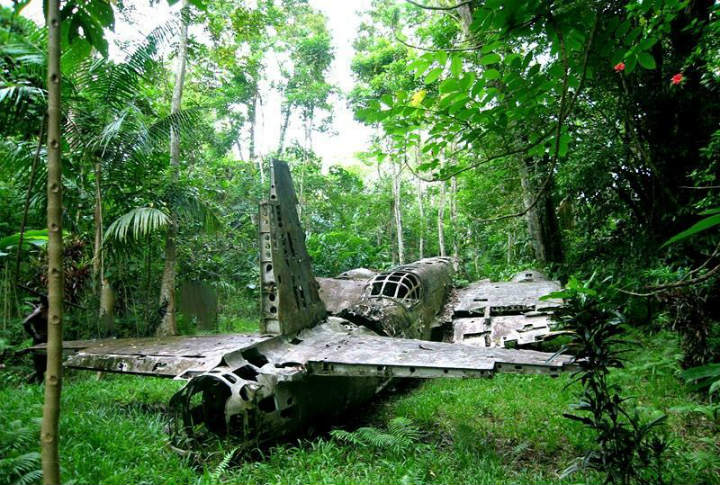 papua new guinea world war ii american plane wrecks crash