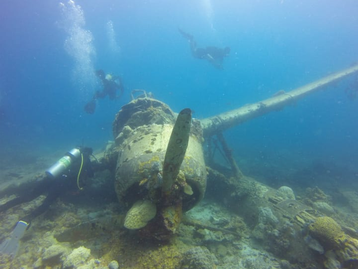 palau wwii japanese japan plane wrecks