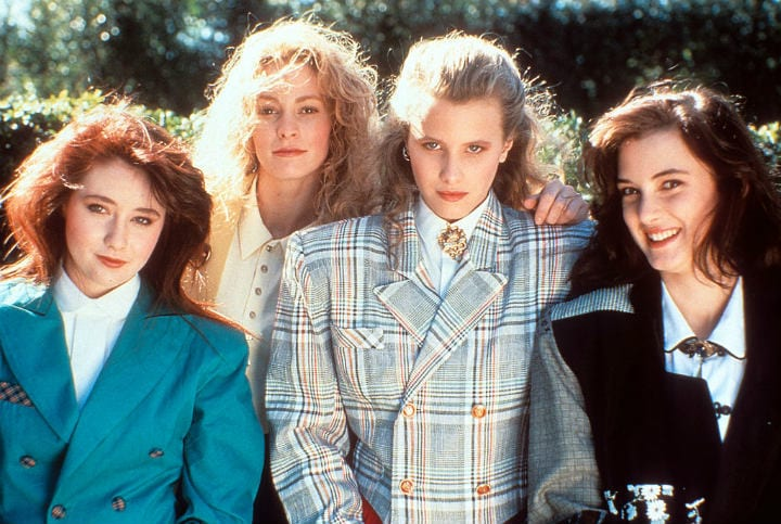 heathers winona ryder shannon doherty film 1980s retro popular slang
