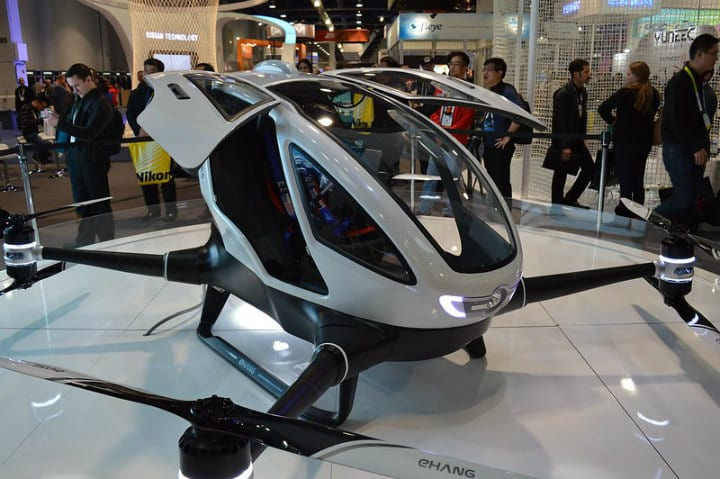 drone flying taxi dubai