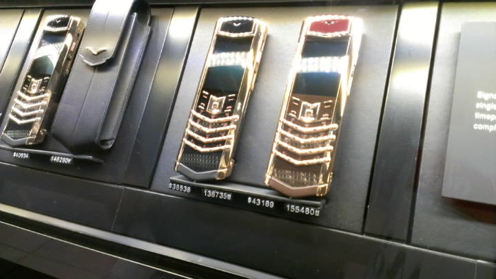 gold phones dubai