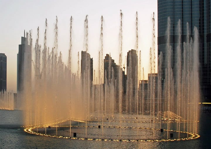 fountain dubai