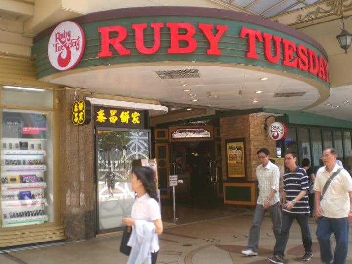 ruby tuesday restaurants closing