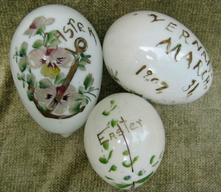 Milk Glass Easter Eggs antiques