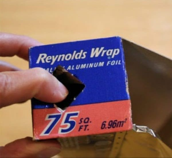 aluminum foil tabs household items using wrong