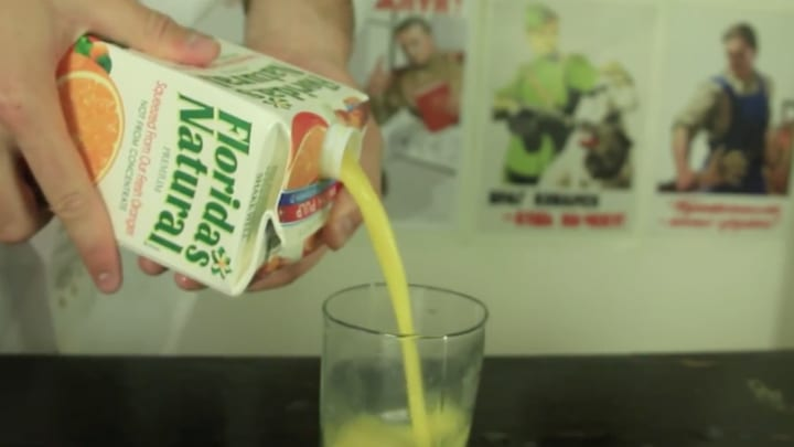 juice pouring household items using wrong