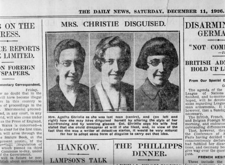 Agatha Christie Disappearance