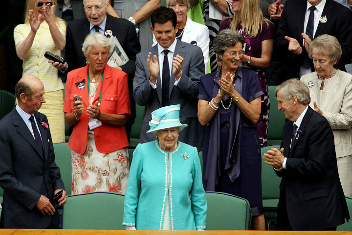 Wimbledon Queen Elizabeth possessions
