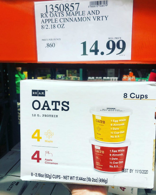 costco oatmeal