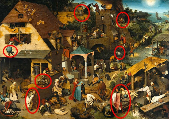 Netherlandish Proverbs hidden details
