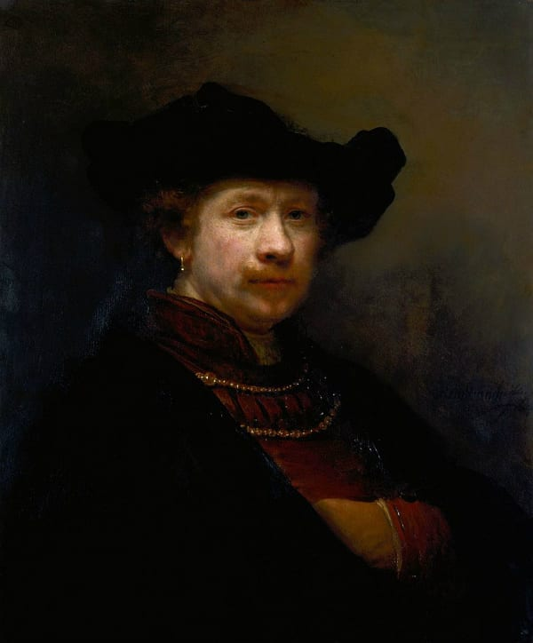Self Portrait of Rembrandt van Rijn hidden details