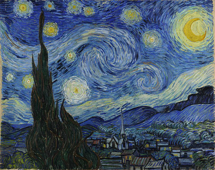 Starry Night hidden details