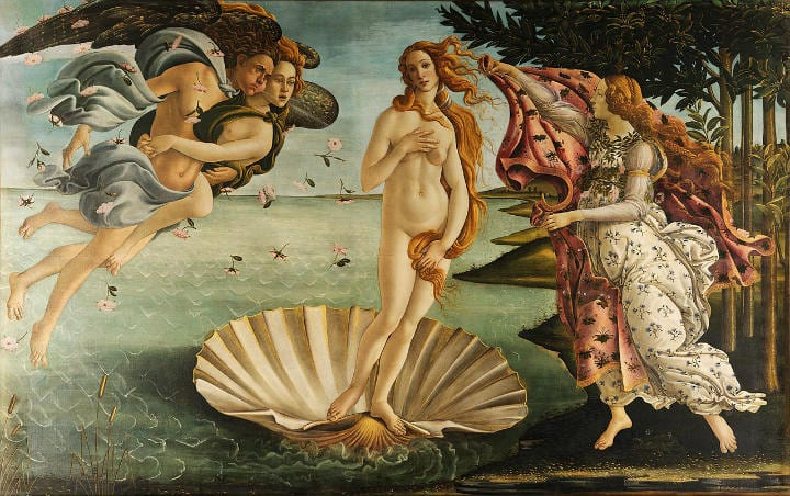 The Birth of Venus hidden details