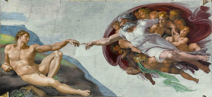 The Creation of Adam hidden details michelangelo