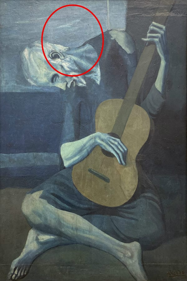 The Old Guitarist hidden details