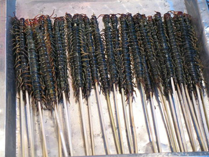 Centipedes chinese foods