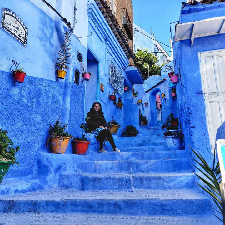 Chefchaouen Morocco colorful places