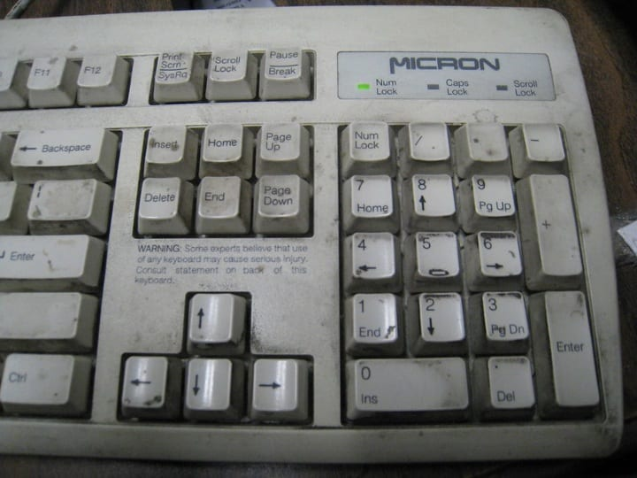 Computer Keyboard germs