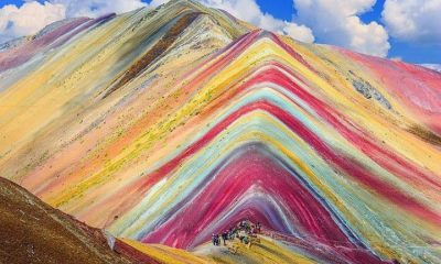 Rainbow Mountains colorful places