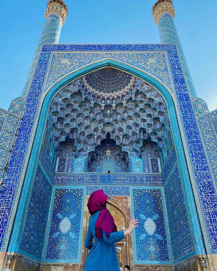 Shah Mosque Iran colorful places