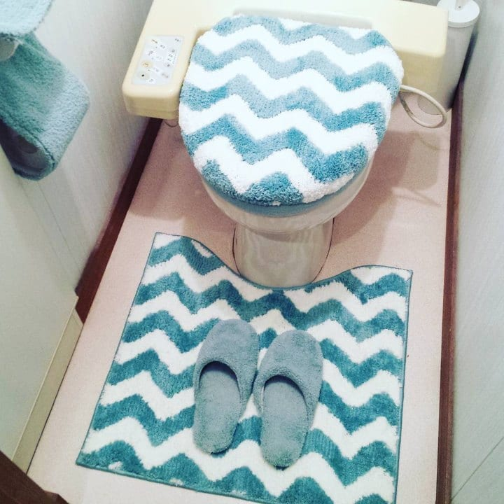 Toilet rug set interior design