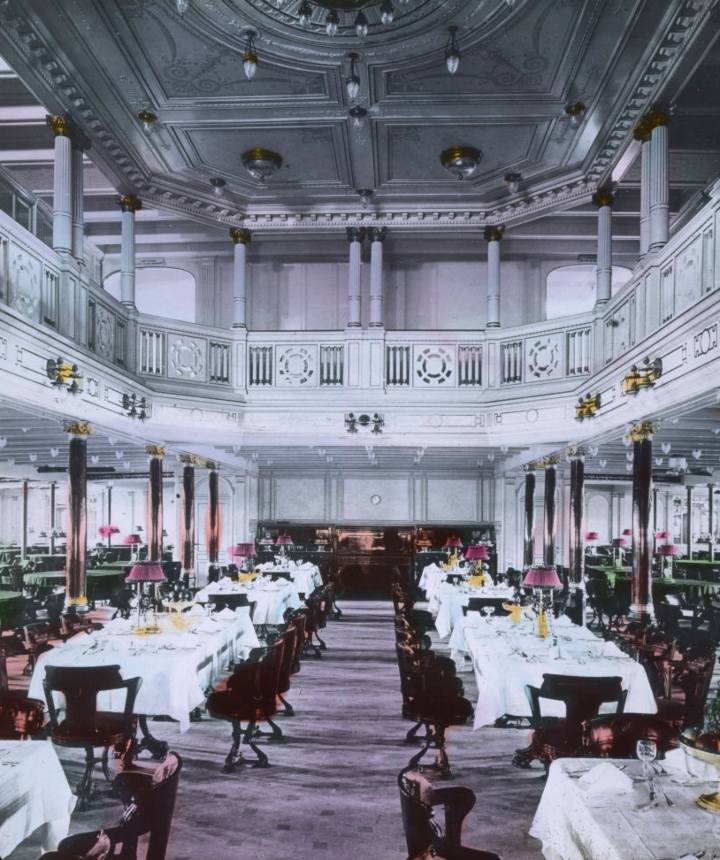 Grand dining room in Titanic