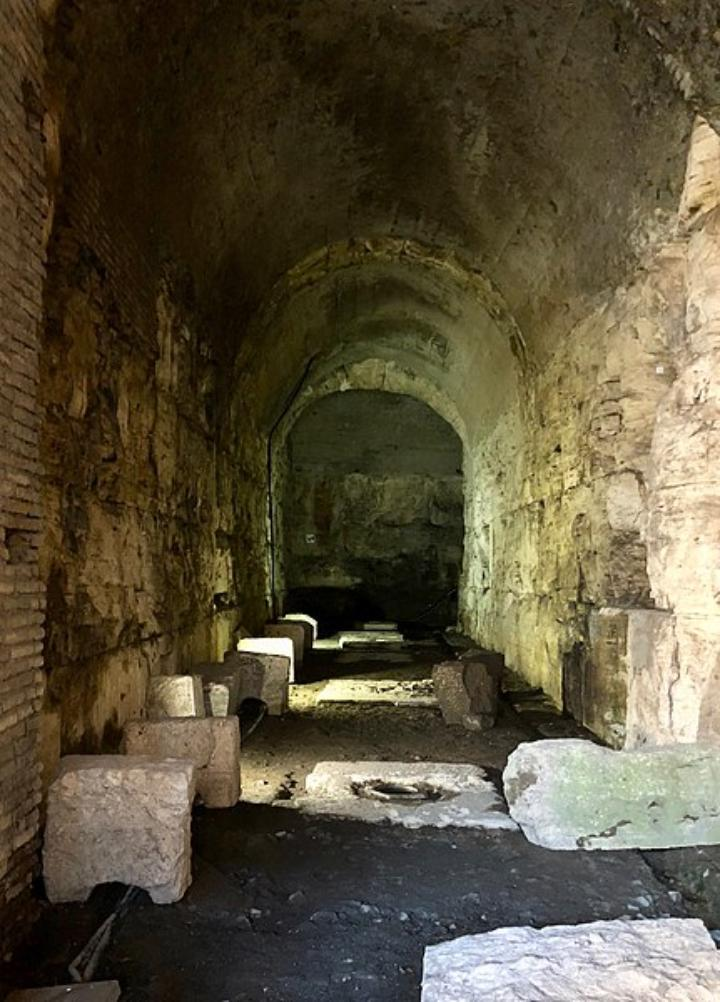 Tunnels under Colosseum landmark